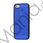 Image of   Two-color Frosted TPU and Plastic Combo Case iPhone 5 cover - Sort / Blå