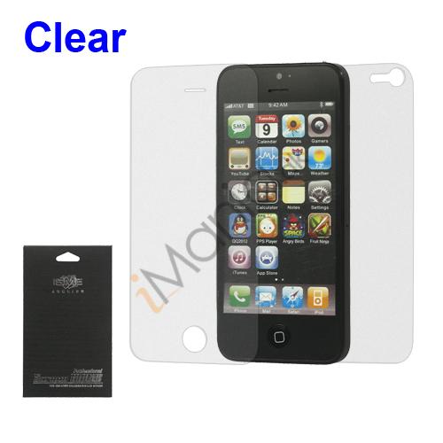 iPhone 5 beskyttelsesfilm og hærdet glas