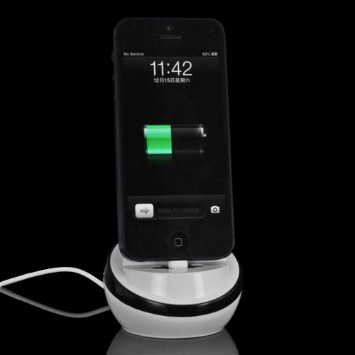 USB Sync Dock / Bordoplader til iPhone 5 - Sort
