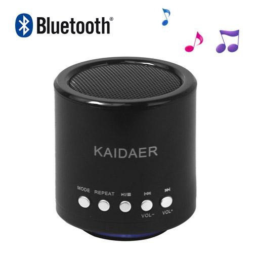 KAIDAER Bluetooth-højttaler til iPhone 5 4S Samsung og etc, understøtter U-Disk Micro SD kort, sort