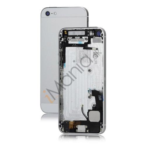 iPhone 5 bagcover inkl diverse dele - Sølv / Hvid