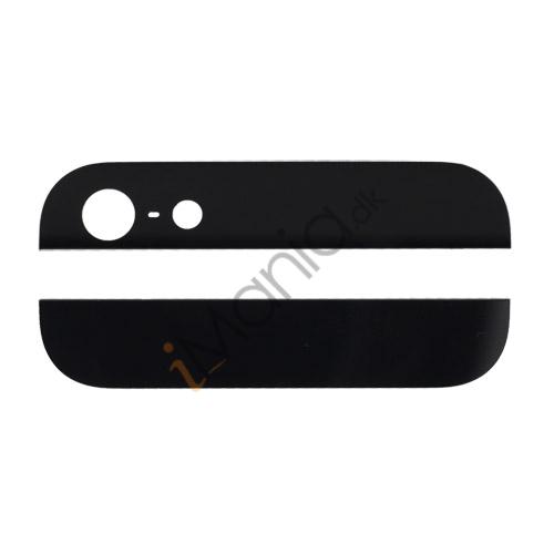 Billede af iPhone 5 bagside-glas (top/bund) til bagside-cover, sort