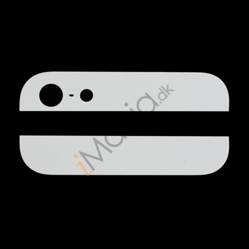 Billede af iPhone 5 bagside-glas (top/bund) til bagside-cover, hvid