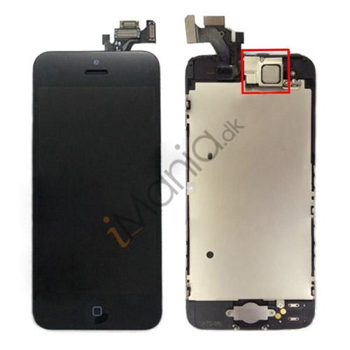 Billede af iPhone 5 Skærm, LCD og Digitizer Sæt inkl. Tryksensor + Digitizer Ramme + Front Kamera + Home-knap + Homeknap Holder - Sort