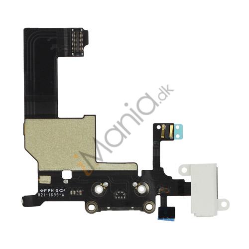 Billede af Dock Connector Ladestik og Headset Stik Flexkabel til iPhone 5, hvid