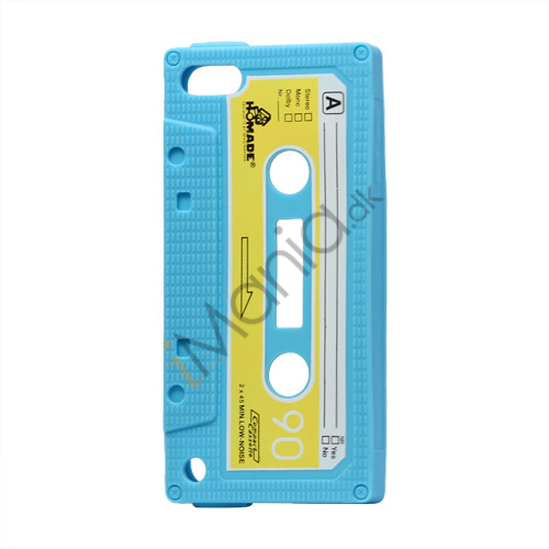 Tyndt Kassettebånd Silicone Cover til iPod Touch 5 - Baby Blue