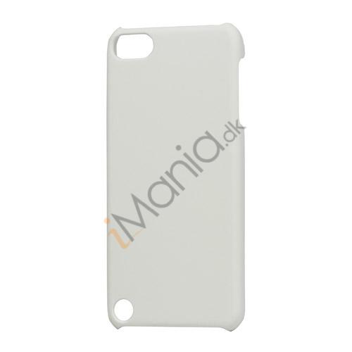 Gummibelagt hård plast Case Cover til iPod Touch 5 - Hvid