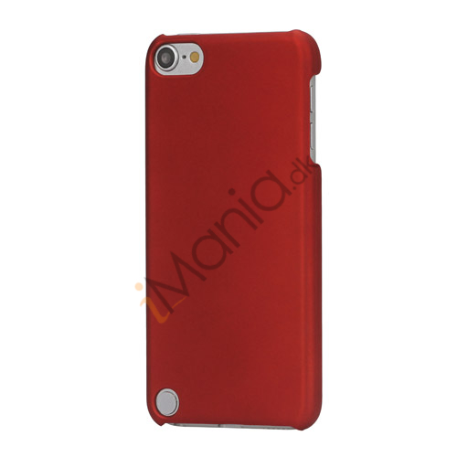 Gummibelagt hård plast Case Cover til iPod Touch 5 - Rød