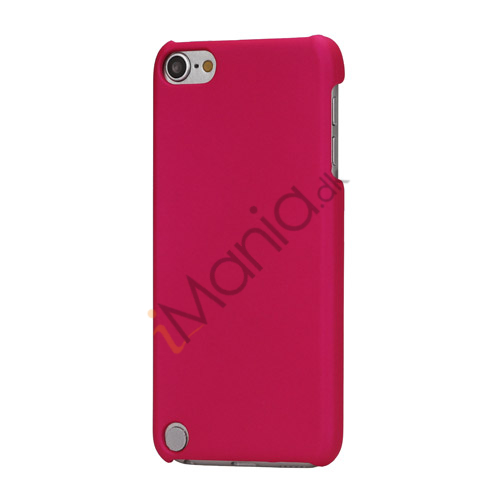 Gummibelagt hård plast Case Cover til iPod Touch 5 - Rose