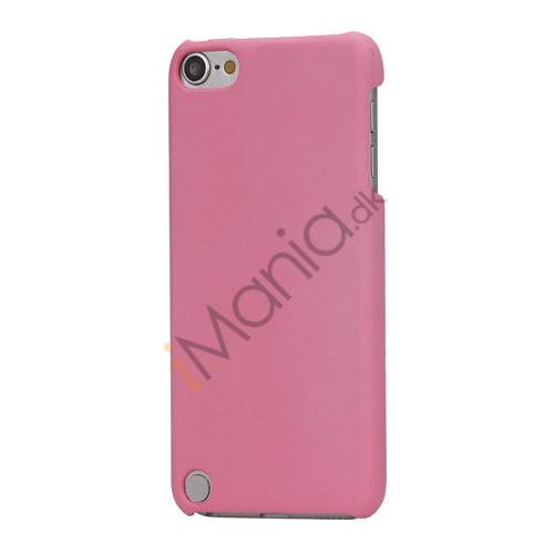 Gummibelagt hård plast Case Cover til iPod Touch 5 - Pink