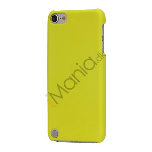 Gummibelagt hård plast Case Cover til iPod Touch 5 - Gul