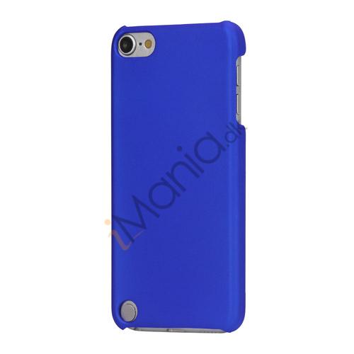 Gummibelagt hård plast Case Cover til iPod Touch 5 - Blå