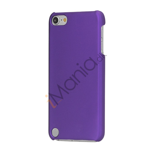 Gummibelagt hård plast Case Cover til iPod Touch 5 - Purple