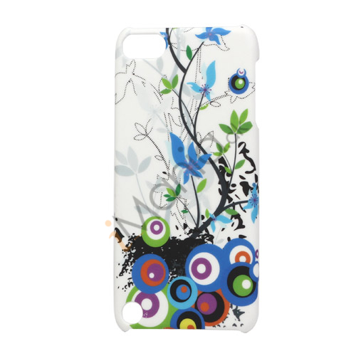 Image of   Cirkler Blomster Plastic Case Cover til iPod Touch 5