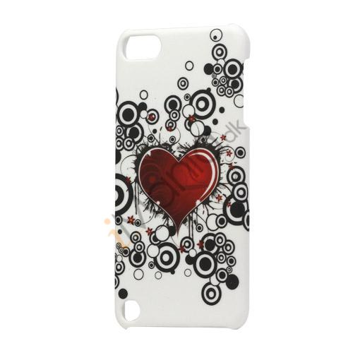 Rødt Heart Plastic Cover Case Tilbehør til iPod Touch 5