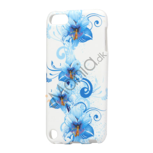 Image of   Blå Lily Blomsts TPU Gel Cover Taske til iPod Touch 5