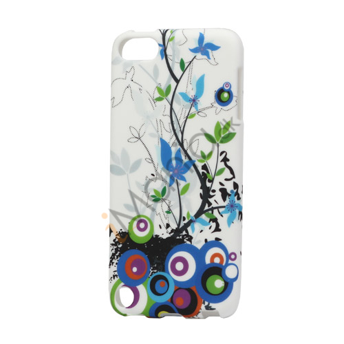 Image of   Cirkler og Blomster TPU Gel Cover til iPod Touch 5