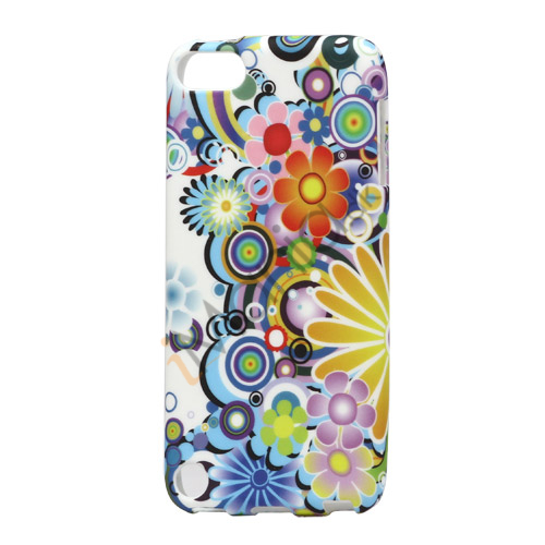 Image of   Farverige blomster TPU Gel Case til iPod Touch 5