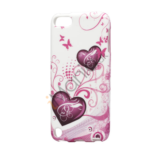 Image of   Hjerter Sommerfugle iPod Touch 5 TPU Gel Cover