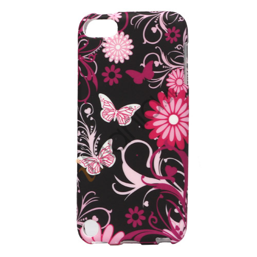 Image of   Sommerfugle og blomster TPU Gel Cover til iPod Touch 5
