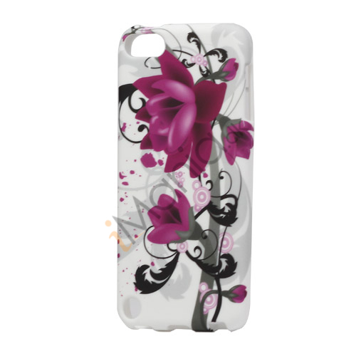 Elegant Lotus Blomst TPU Gel Cover til iPod Touch 5