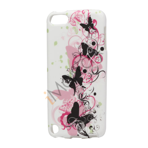 Smukke Sommerfugle TPU Gel Cover til iPod Touch 5