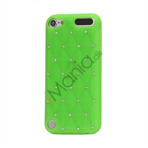Smykkepræget Silicone Skin Case til iPod Touch 5 - Grøn