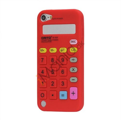 Image of   3D Lommeregner Silicone Cover Taske til iPod Touch 5 - Rød