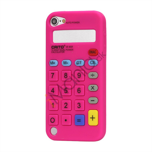 Image of   3D Lommeregner Silicone Cover Taske til iPod Touch 5 - Rose