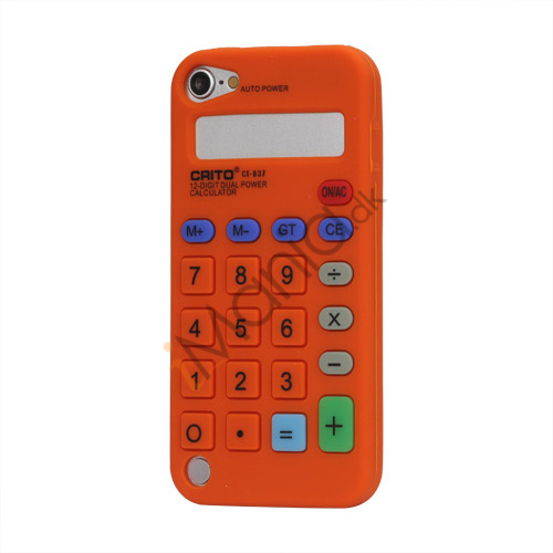 3D Lommeregner Silicone Cover Taske til iPod Touch 5 - Orange