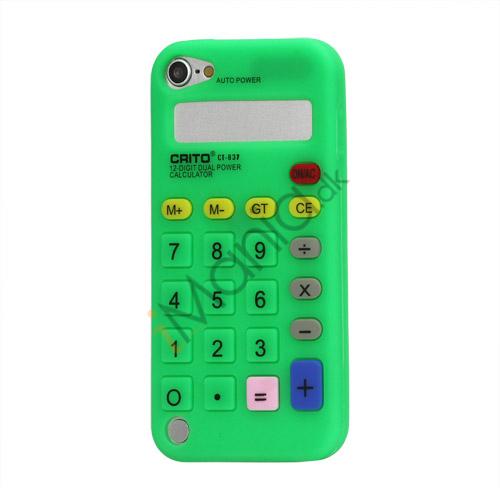 3D Lommeregner Silicone Cover Taske til iPod Touch 5 - Grøn