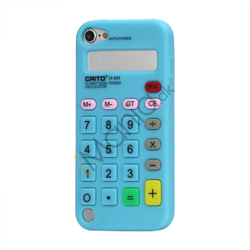 Image of   3D Lommeregner Silicone Cover Taske til iPod Touch 5 - Baby Blue