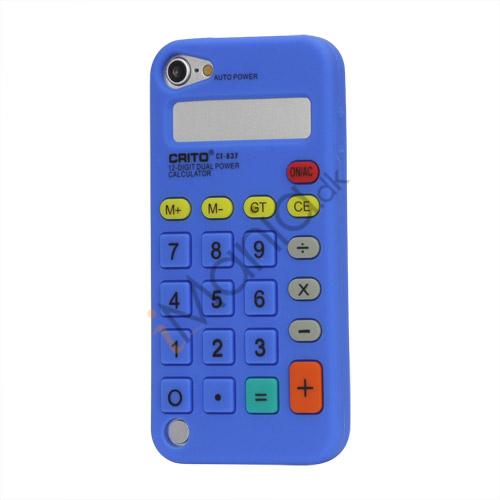Image of   3D Lommeregner Silicone Cover Taske til iPod Touch 5 - Mørkeblå
