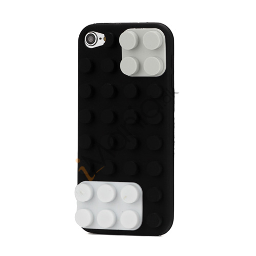 Byggeklods Silicone Cover til iPod Touch 5 - Sort