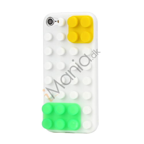 Byggeklods Silicone Cover til iPod Touch 5 - Hvid