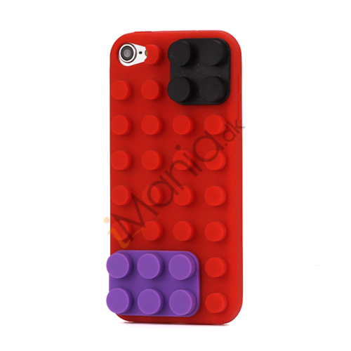 Byggeklods Silicone Cover til iPod Touch 5 - Rød