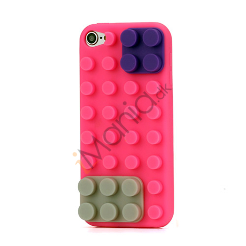 Byggeklods Silicone Cover til iPod Touch 5 - Rose