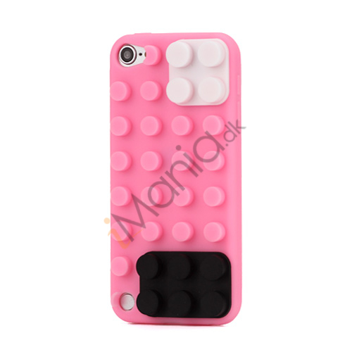 Byggeklods Silicone Cover til iPod Touch 5 - Pink