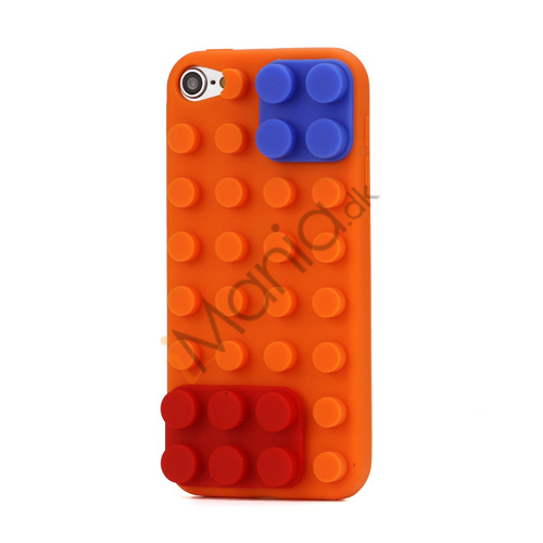 Byggeklods Silicone Cover til iPod Touch 5 - Orange