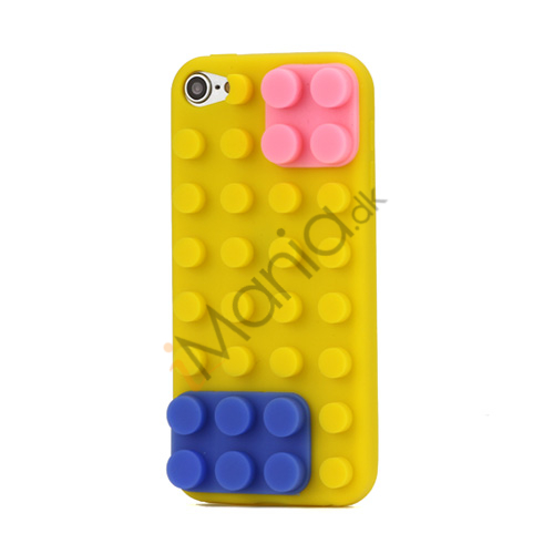 Image of   Byggeklods Silicone Cover til iPod Touch 5 - Gul