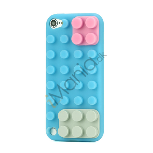 Image of   Byggeklods Silicone Cover til iPod Touch 5 - Baby Blue