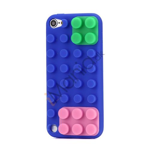 Image of   Byggeklods Silicone Cover til iPod Touch 5 - Mørkeblå