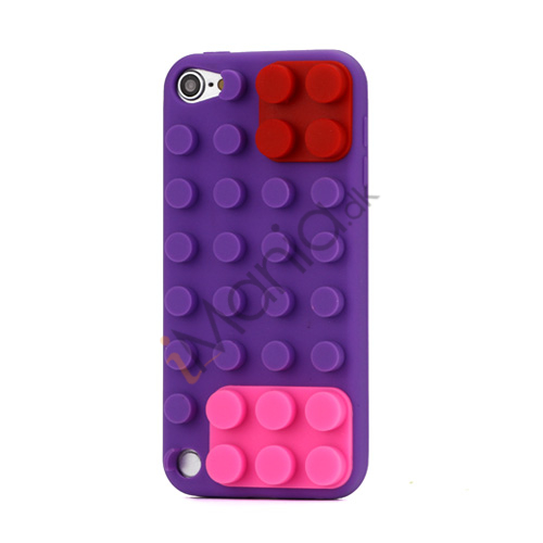 Byggeklods Silicone Cover til iPod Touch 5 - Lilla