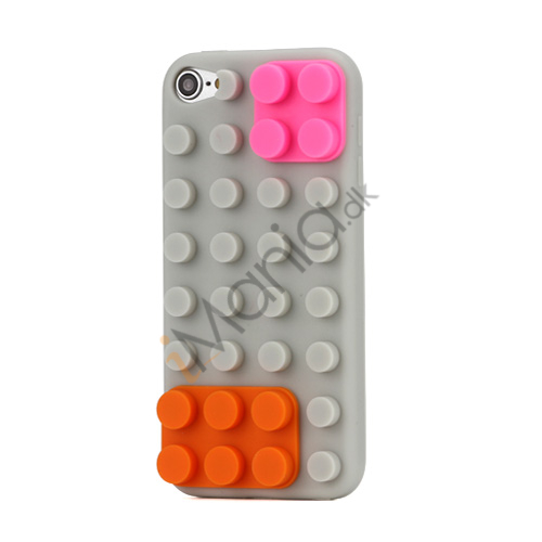 Image of   Byggeklods Silikone Case Cover til iPod Touch 5 - Grå