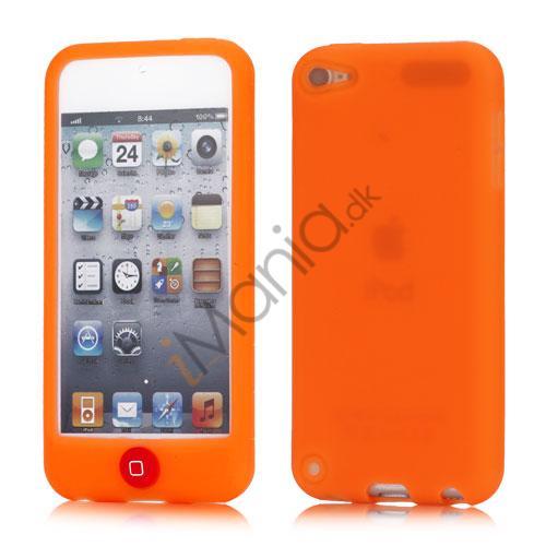 Image of   iPod Touch 5 Silikone Taske med Chokolade-farvet Home-knap - Orange