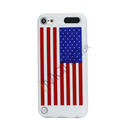 American USA National Flag Blødt Silikone Case Cover til iPod Touch 5