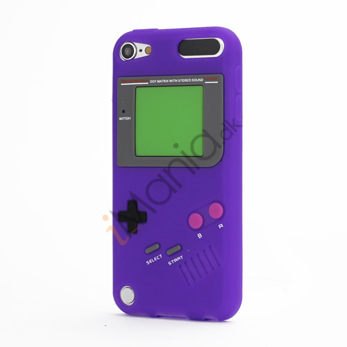 Image of   Retro Nintendo Game Boy Silikone Case Cover til iPod Touch 5 - Lilla