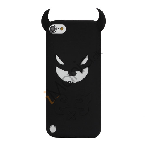 Image of   Djævel, blød Silikone Skin Case Cover til iPod Touch 5 - Sort