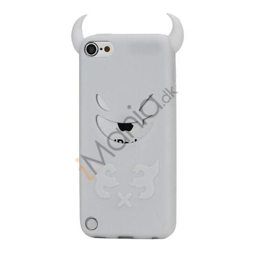 Djævel, blød Silikone Skin Case Cover til iPod Touch 5 - Hvid