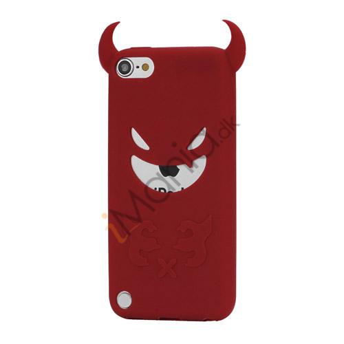 Djævel, blød Silikone Skin Case Cover til iPod Touch 5 - Rød